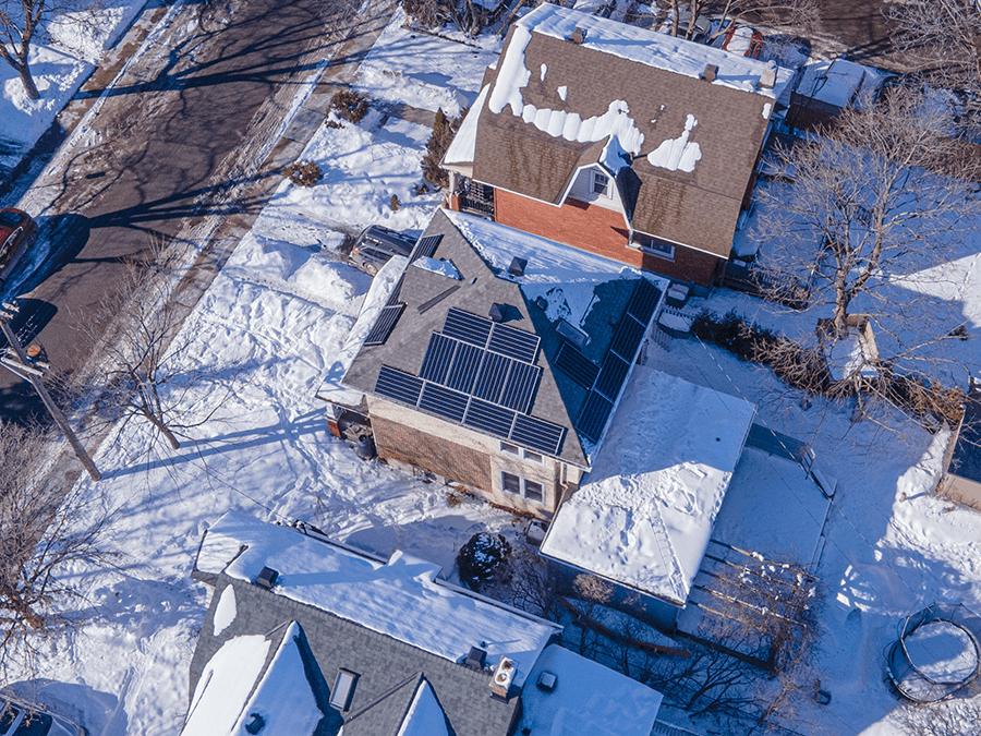 Execon Solar Winter Installation